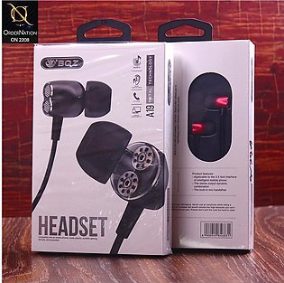BQZ A19 Wired Metal Handsfree with Microphone - Red