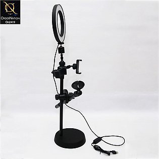 Black - New Series Professional Microphone Stand Twins Phone Holder With Mic St…