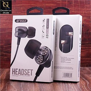 BQZ A19 Wired Metal Handsfree with Microphone - Golden