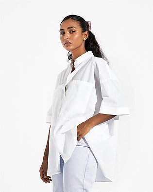 Button Down Shirt with Over-sized Pockets