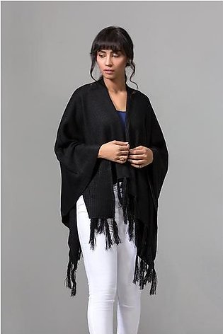 Knitted Cape Shawl