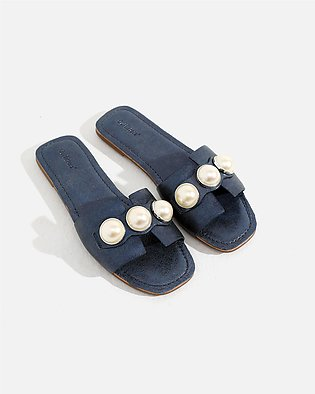 Pearl Embellished Slippers
