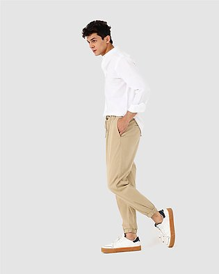 Jogger Trousers with Double Fastening