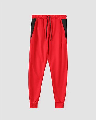 Jogging Trousers with Contrast Drawcord