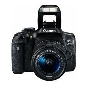 Canon EOS 750D 24.2MP DSLR Camera Black (Lens Options)