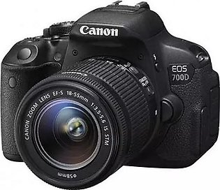 Canon EOS 700D 18 MP 18-55mm Lens DSLR Camera Black