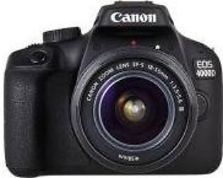 Canon EOS 4000D 18.0 MP 18-55mm Lens Wi-Fi DSLR Camera Black
