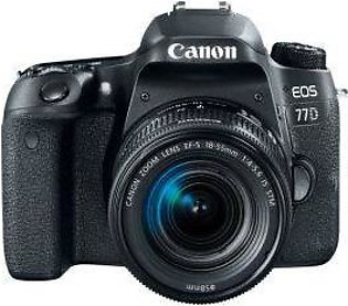 Canon EOS 77D 24.2 MP 18-55mm Kit Lens DSLR Camera Black