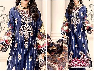 Embroidered Airjet Lawn Dress 2020 with Chiffon Dupatta