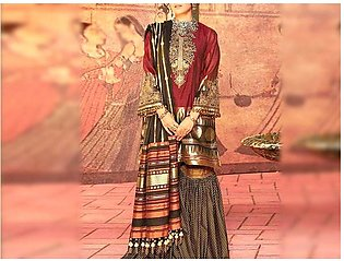 Embroidered Lawn Suit 2020 with Lawn Dupatta