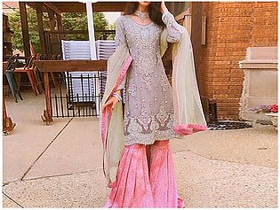 Heavy Embroidered Net Bridal Dress