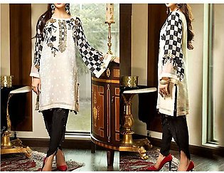 2-Pcs Heavy Embroidered Lawn Dress