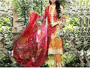 Heavy Embroidered Lawn Suit 2020 with Lawn Dupatta