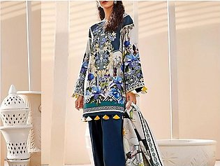 Embroidered Lawn Dress with Lawn Dupatta