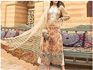 Embroidered Lawn Suit with Lawn Dupatta