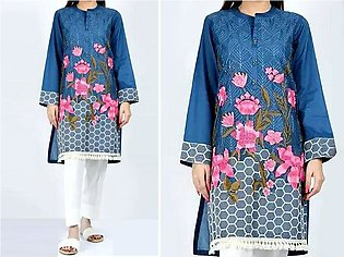 2-Pcs Sequins Embroidered Lawn Dress
