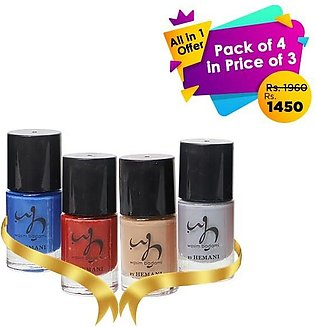 All in 1 pack of 4 in price of 3 (Nail Polish)