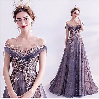 Branded Short Sleeves Prom Dress 2020 Long Illusion Neck Appliques Sheer Sequ...