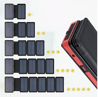 Branded Hot sale Portable 20000mAh Solar Power Bank Qi Wireless charging Wate...