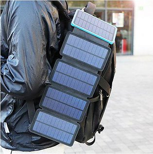 Branded 20000mAh Solar Power Bank Real Solar Charging Phone External Battery ...