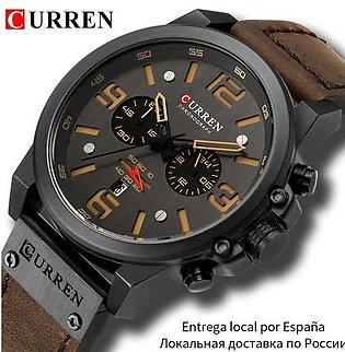 Branded CURREN Mens Watches Top Luxury Brand Waterproof Sport Wrist Watch Chr...