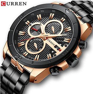 Branded CURREN Men Watch Top Brand Luxury Chronograph Quartz Watches Stainles...