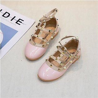 Branded 2020 New Autumn Baby Girls Pu Leather Shoes Children Stud Flats Kids ...