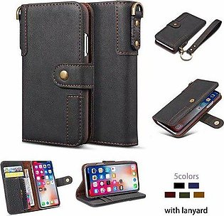 Branded Leather Flip Case for Samsung Galaxy S20 Ultra S10e S10 lite S9 S8 Pl...