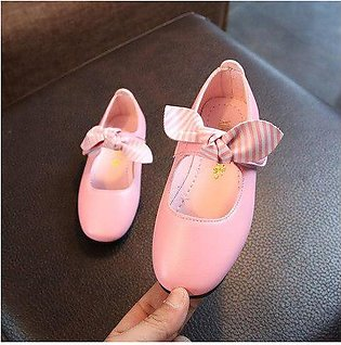 Branded Fashion Bow Baby Girl Shoes Toddler Princess School Shoes Kids Leathe...