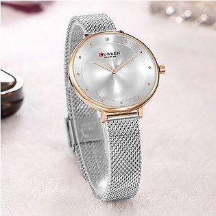 Branded 2018 CURREN Women Watches Stainless Steel Luxury Dress Watch Ladies Q...