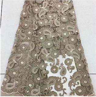 Branded gold Lace Fabric 2018 High Quality Lace,African Tulle Lace Fabric Who...