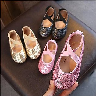 Branded Girls Ballet Flats Baby Dance Party Girls Shoes Glitter Children Shoe...