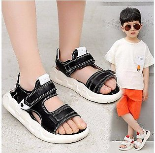 Branded Boys Sandals 2020 New Summer Girls Shoe Kids Children Wide Pu Leather...