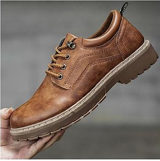 Branded 2020 Men Casual Leather Shoes Men Martins Leather Shoes Work Safety S...