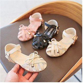Branded Girl Sandals 2020 Summer New Woven Toe  Cut Outs Girl Roman Sandals B...
