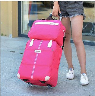 Branded Women Travel luggage Bag travel Trolley Bag wheels Suitcase Travel Ro...