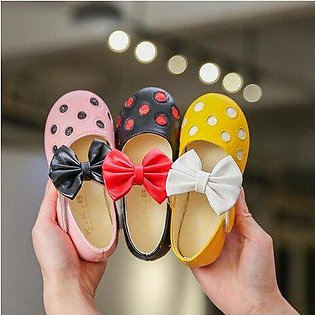Branded 2019 Children girl pu shoes Girls dot Shoes Flat casual princess girl...