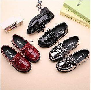 Branded AFDSWG spring and autumn kids princess shoes black low heel silver sh...