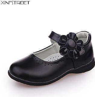 Branded Xinfstreet Girls Shoes Leather Flower Nice Children Princess Shoes Gi...