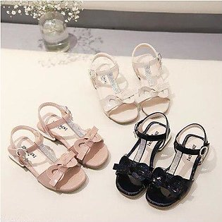 Branded New Spring Summer Children Casual Shoes Girls Sandals Sequins Bowtie ...
