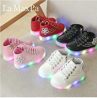 Branded Size 21-30 Children's Led Sneakers Girls Glowing Kids Shoes for Girls...
