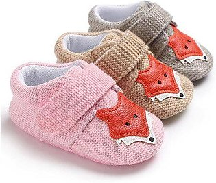 Branded Knit Fox Baby Girl Shoes Animal Cartoon Cute Newborn Baby Shoes Soft ...