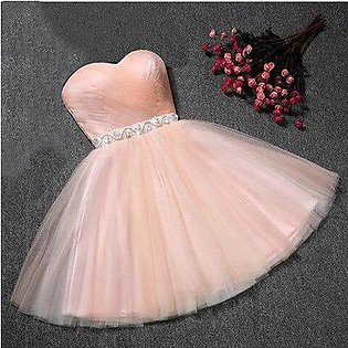 Branded Strapless Bridesmaid Dress For Girls Plus Size Short Party Dresses 20...
