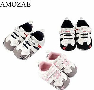 Branded New Arrival Baby Shoes Baby Boys Shoes PU Striped Sneaker Print Paw N...