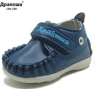 Branded Apakowa Boys&Girls Autumn First Walkers Pu Leather Kids Shoes Solid B...
