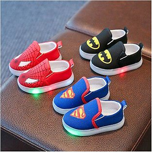 Branded Hot sales Fashion cute Hero baby shoes LED lighting infant tennis Lov...