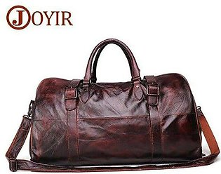 Branded JOYIR Soft Cow Leather Extra Large Weekend Duffel Bag Large Genuine L...
