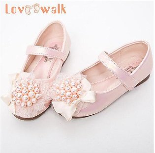 Branded Loveewalk Pearls Flower Girl Shoes Princess Flats Spring Summer Mary ...
