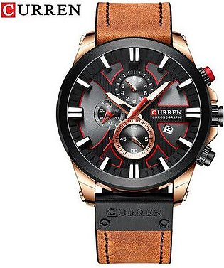 Branded CURREN luxury Watch Chronograph Sport Mens Watches Quartz Leisure Clo...