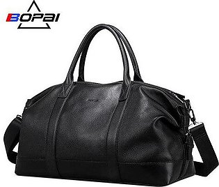 Branded BOPAI 2019 Genuine Leather Travel Duffle Bags Men Soft Top Layer Cow ...